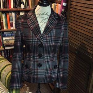Talbots's plaid wool blazer Size 8